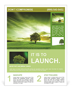 Green landscape Flyer Template & Design ID 0000009265 ...