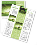 Green landscape Newsletter Template