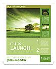 Green landscape Poster Template