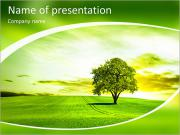 Green landscape PowerPoint Templates
