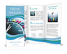 Time to change concept, color word and clock on blackboard Brochure Templates