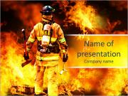 In to the fire, a Firefighter searches for possible survivors PowerPoint Templates