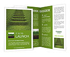 Stairway covered with green grass. Brochure Templates