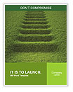 Stairway covered with green grass. Word Templates