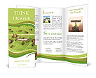 Dividing line and cargo traffic at ants work path in anthill, teamwork Brochure Templates