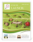Dividing line and cargo traffic at ants work path in anthill, teamwork Flyer Templates