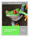 Red-eye tree frog Agalychnis callidryas in terrarium Word Templates
