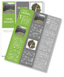 Urban ecology concept - grass strop over stairs Newsletter Templates