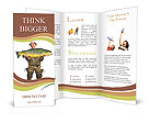 The fisherman with big fish (Brown Trout - Salmo Trutta). Success concept. Brochure Templates