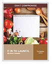 Fresh Organic Vegetables and Spices on a Wooden Background and Paper for Notes. Open Notebook and Fr Word Template