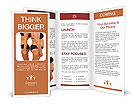 Fat and thin woman isolated on white Brochure Templates