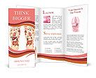 Uman organs in the foot Brochure Templates