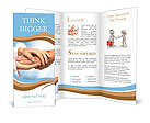 Two people holding hands for comfort Brochure Templates