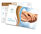 Two people holding hands for comfort Postcard Template