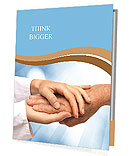 Two people holding hands for comfort Presentation Folder
