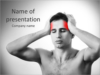 Man Having Bad Headache PowerPoint Template