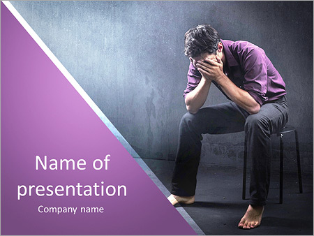 Drugs powerpoint template smiletemplates sad man in a empty room powerpoint template toneelgroepblik Choice Image