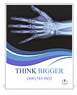 X-ray hand / Many others X-ray images in my portfolio. Poster Template