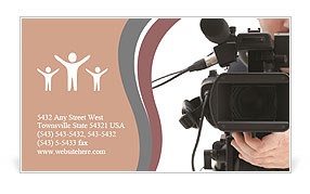Video camera operator working with his professional equipment video camera operator working with his professional equipment isolated on white background business card template reheart Gallery