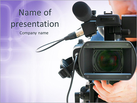 Camera powerpoint template smiletemplates video camera operator working with his professional equipment isolated on white background powerpoint templates toneelgroepblik Images
