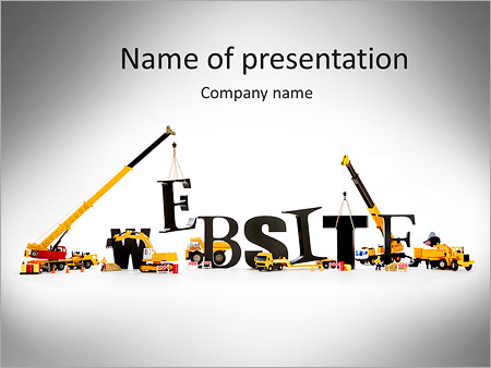 "black wooden alphabetic letters set showing ""website"" being set up, Modern powerpoint"