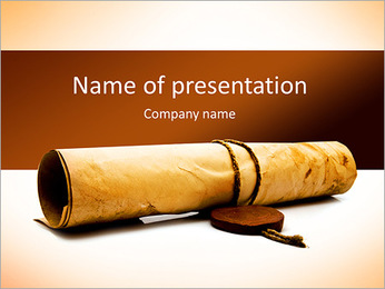 Old paper on a white background PowerPoint Template