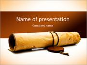 Old paper on a white background PowerPoint Templates