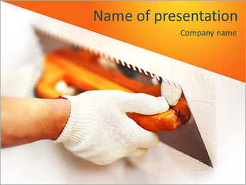Work aligns with a spatula PowerPoint Template