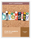 The word Diversity in cut out magazine letters pinned to a cork notice board Word Templates