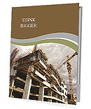 Construction site with crane and building Presentation Folder