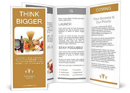 Glucosemeter And Healthy Food Brochure Template & Design Id