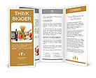Glucosemeter and healthy food Brochure Templates