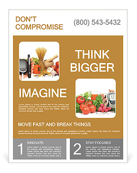 Glucosemeter And Healthy Food Flyer Template
