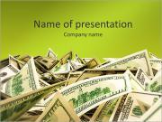 Heap of Dollar Bills PowerPoint Templates