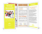 School kids group, over white Brochure Templates