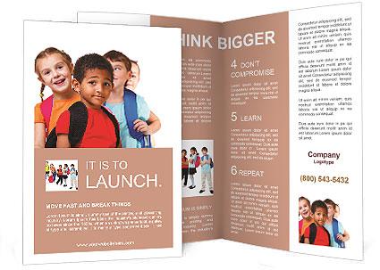 Kids Ready Back To School Brochure Template Design ID - School brochure template