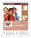 Kids ready back to school Flyer Templates