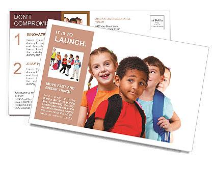 kids ready back to school postcard template design id 0000009336. Black Bedroom Furniture Sets. Home Design Ideas