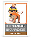 Schoolboy is sitting on books isolated on a white background. Back to school Ad Template