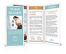Business woman with stomach issues Brochure Templates