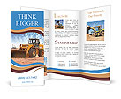 Bulldozer on a building site Brochure Templates