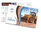 Bulldozer on a building site Postcard Template