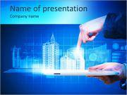 Engineering automation building designing. Construction industry technology PowerPoint Templates