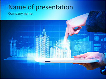 Engineering automation building designing. Construction industry technology PowerPoint Template