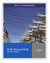 Electric substation in a bright sunny day Word Templates