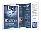 Screen with Like button and hand-shaped cursor, 3d render Brochure Template