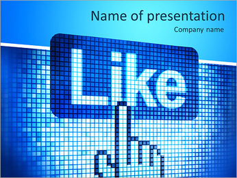Screen with Like button and hand-shaped cursor, 3d render PowerPoint Template