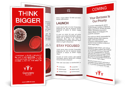 White Blood Cell And Red Blood Cell Brochure Template Design Id