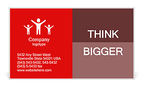 White blood cell and red blood cell Business Card Template