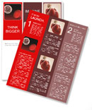 White blood cell and red blood cell Newsletter Template
